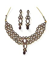 Xcite Kundan Necklace Set With Matching Earring for Women XNS101