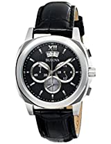 Bulova Classic Analog Black Dial Men's Watch - 96B218