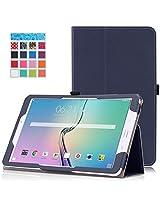 Samsung Tab E 9.6 Case - Moko Slim Folding Cover Case For Samsung Galaxy Tab E 9.6 Verizon 2015 Tablet Sm-T560 Sm-T561 (Fit For Both Wifi & 4G Edition), Indigo