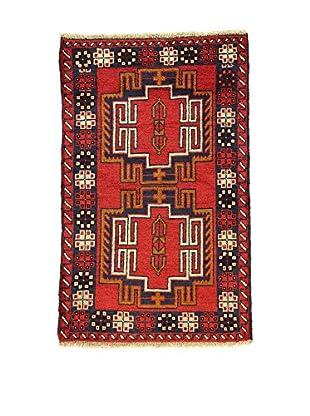 L'Eden del Tappeto Teppich Beluchistan rot/marine 138t x t87 cm