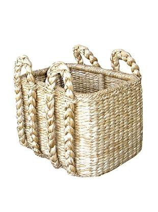 Mainly Baskets Sweater Weave Rectangular Rush Basket