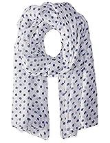 Saro Lifestyle Women's Polka Dot Design Shawl, Off-White, One Size