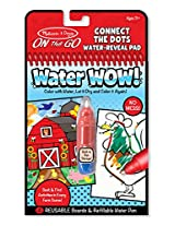 Melissa and Doug Water Wow Connect the Dots Toy, Multi Color