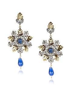 Taara Blue Crystal Drop Earrings