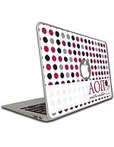 Alpha Omicron Pi MacBook Air or Pro (13 inch) Vinyl Skin - Polka Dot Pattern
