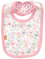 Magnificent Baby Baby-Girls Yoga Monkey Reversible Bib