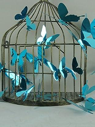 Ambiance Live Wandtattoo 12 tlg. Set 3D Butterflies - Mirror