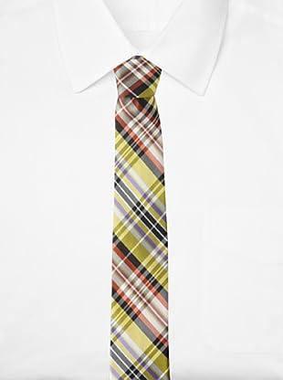 Ben Sherman Men's Morton Plaid Tie (Yellow)