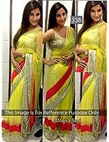 Monika Soni Green Net Fancy Bollywood Saree