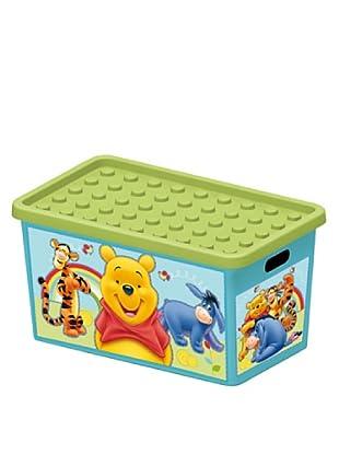 Enjoy Home  Aufbewahrungsbox Pooh 50 lt grün/himmelblau