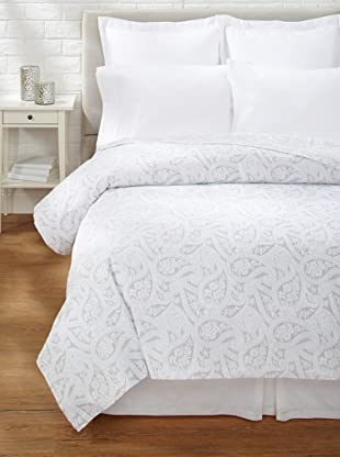 Belle Epoque Kashmir Paisley Coverlet (Grey/White)