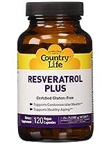 Country Life Resveratrol Plus (veg Caps), 120-Count
