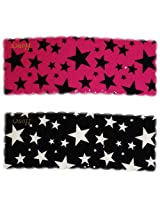 iOna Beauty Essentials Woman Tic Tac STARS Type Beauty Hair Pins Black n Pink 2