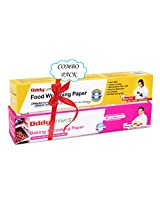 """Oddy Combo Pack for Uniwraps Food Wrapping Paper & Parchment Paper 10.25"""" X 20M"""