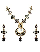 Vivanta Multi-Coloured Gold Plated Necklace And Earrings Set For Women (VD-N122)