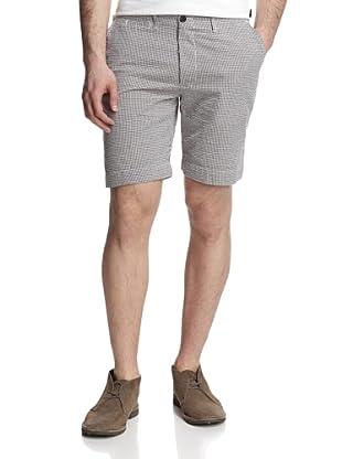 Billy Reid Men's Wilson Gingham Seersucker Short (White/Brown)