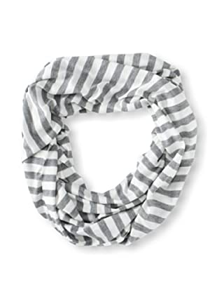 Raj Imports Women's Striped Infinity Scarf (Grey/White)