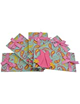 Twinkle Creation Handmade Paper Envelope With Frock Design-19 cm X 9.5 cm