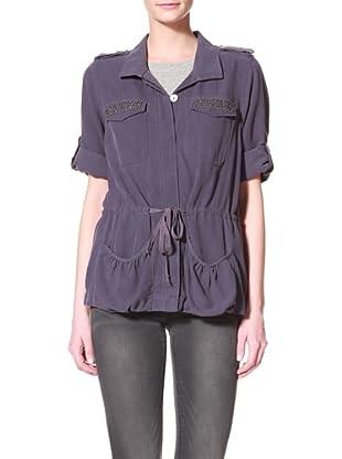 Тканые DA-NANG женский пиджак с карманами из бисера (скрипка) .