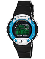 Sonata Digital Grey Dial Men's Watch - NG7982PP04J