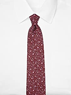 Nina Ricci Men's Floral Jacquard Tie, Burgundy