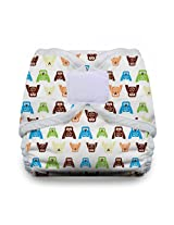 Thirsties Diaper Cover with Hook and Loop, Hoot, Medium