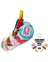 "Yummy World: ~7"" Kidrobot Yummy World Pencil Bag + 1 Free Japanese Ice Cream Bar Mini Eraser Bundle"