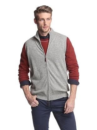 Oxxford Men's Zip-Up Vest (Grey)