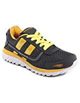 Provogue Grey And Yellow Men Sports Shoes PV1064