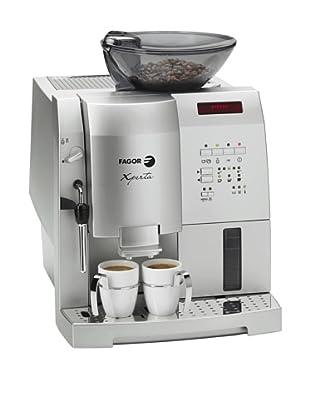 Fagor - Cafetera Espresso Cat44 Ng Pantalla Lcd, 16 Bares, Thermoblock, Color Metalizado