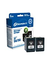HP DPC6656TWN Ink Cartridge (Black,2-Pack)