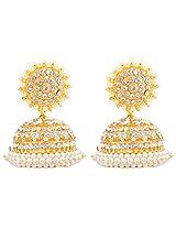 Khushi Purchase Gold-Plated Jhumki For Women (White )