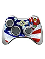 Game Xcel Xbox 360 High Gloss Controller Skin Protective Vinyl Sticker For X360 Slim Wireless Game Controller X3 Controller Decal Stars & Stripes