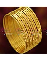 2.4 Size Gold Plated 12 Pieces Bangles Set Party Wear Long Colour Life Online