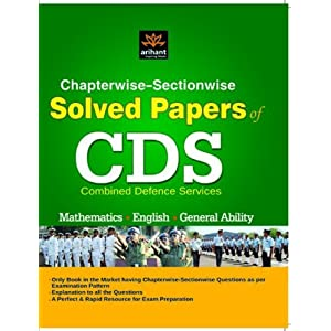 Chapterwise-Sectionwise Solved Paper of CDS Mathematics| English  General Ability (Old Edition)