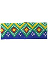Coal Women's The Geo Double-Layer Headband with Geometric Pattern, Royal Blue, One Size
