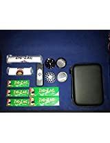 Deluxe Smoking Kit- Case, Black Grinder, 2 Rolling Machine & Papers
