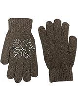 Romano Women's Brown Warm Winter Gloves