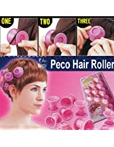 PECO Roll Hair Curlers Roller Soft Rubber DIY Cosmetic Tools-10Pcs
