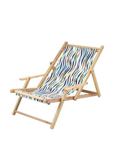 Julie Brown Wooden Reversible Adult Chair (Navy Tiger/Green Harbor)