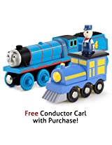 Thomas & Friends Wooden Railway Gordon w/Free Conductor Carl Train