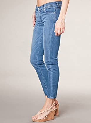 7 for all Mankind Roxanne Flood Forget Not Skinny Fit (mittelblau denim)