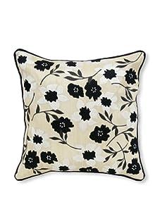 Palecek Floral Pillow (Black)