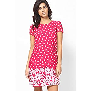 Daydreaming Pink Polka Shift Dress