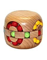 Cubelelo Wooden Hamburger Ball Puzzle