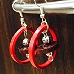 Red and Brown handmade Earring
