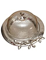 The Yellow Door Cake Plate with Lid (Silver)