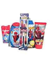 Amazing Spiderman Bath Time Bundle With Shampoo, Body Wash, Toothbrush And Hair Gel By Spiderman