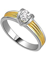 0.07ct Solitaire Diamond Two Tone Engagement Ring