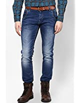 Washed Blue Narrow Fit Jeans Mufti